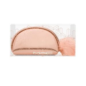 NWT MAC Rose Gold Snowball Brush Kit with Case